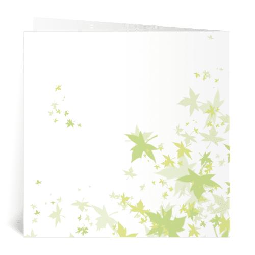 trouwkaart portretillustratie herfst bladeren