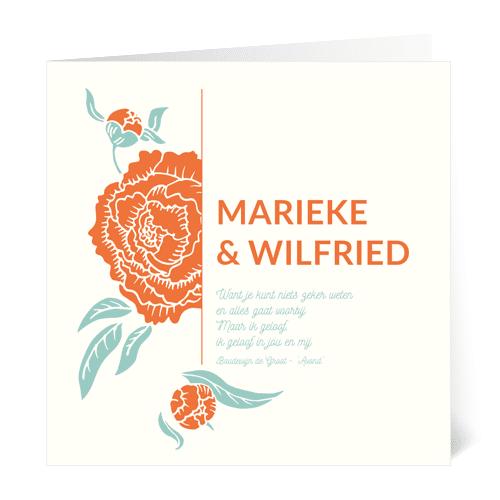 verlovingskaart bloemillustratie