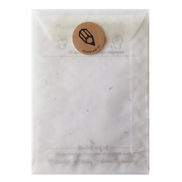groeikaart pergamijn Envelop