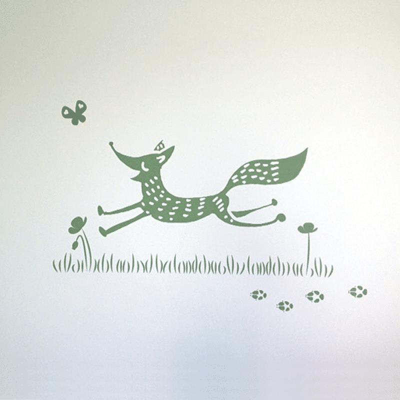 illustratie vos geboortekaartje