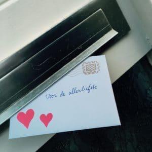 last minute tegoedbon envelop voor je lief
