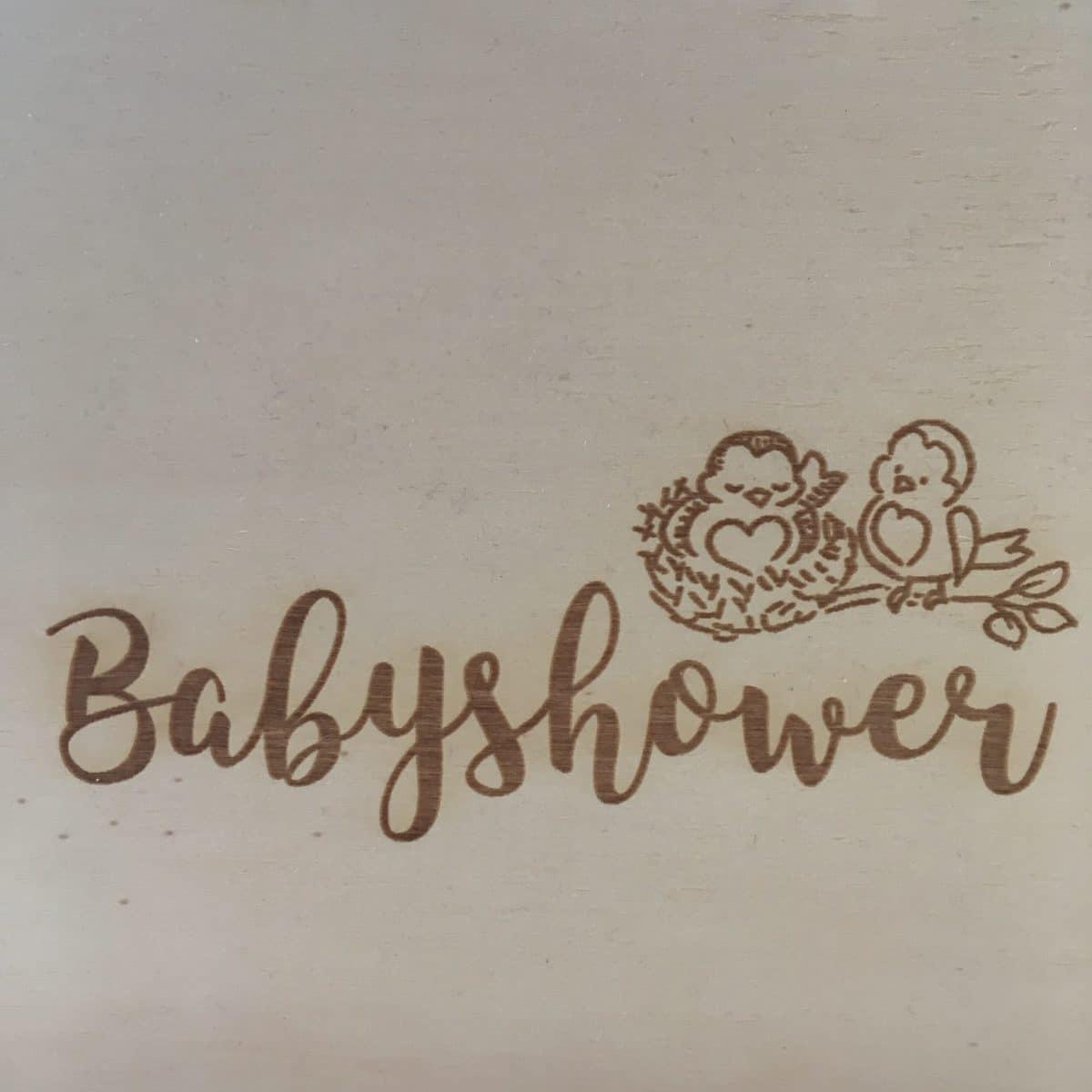 houten babyshowerboek