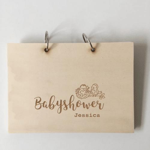 babyshower boek tweeling met naam
