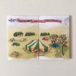 trouwkaart uitnodiging festival camping plattegrond