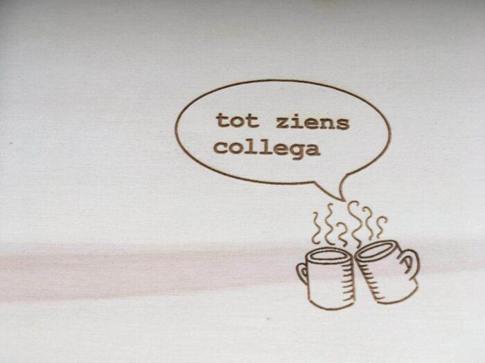 dagcollegaboek koffiemokken