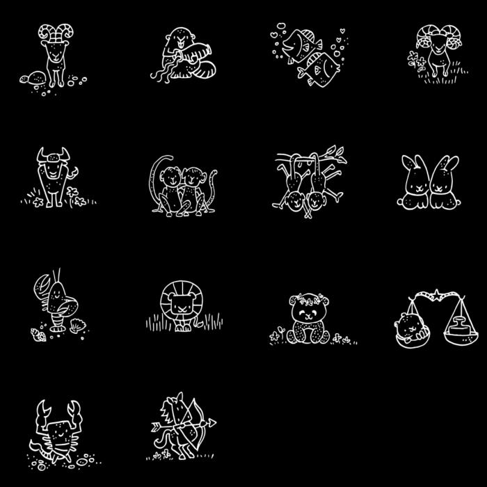 sterrenbeeld horoscoop illustraties