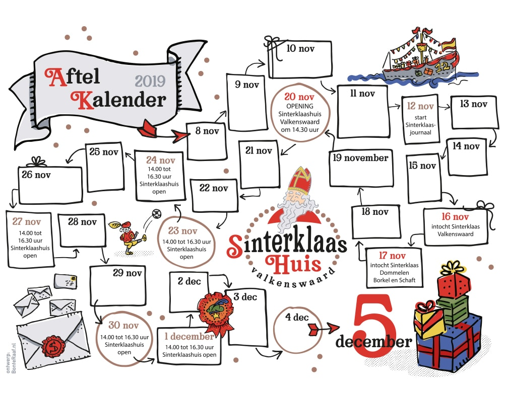 free download aftelkalender sinterklaas