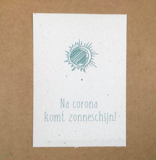 groeikaart na corona komt zonneschijn