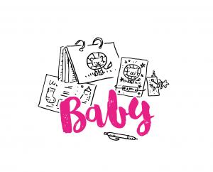 Geboortekaart kraamboek babyshowerboek kraambedankje groeikaart
