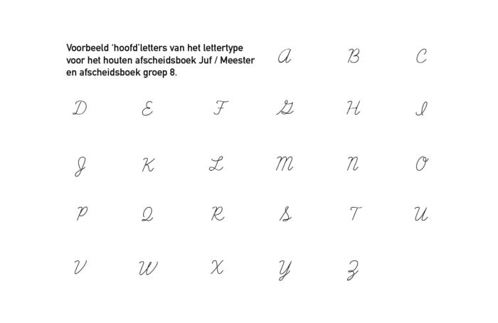 voorbeeld alfabet lettertype