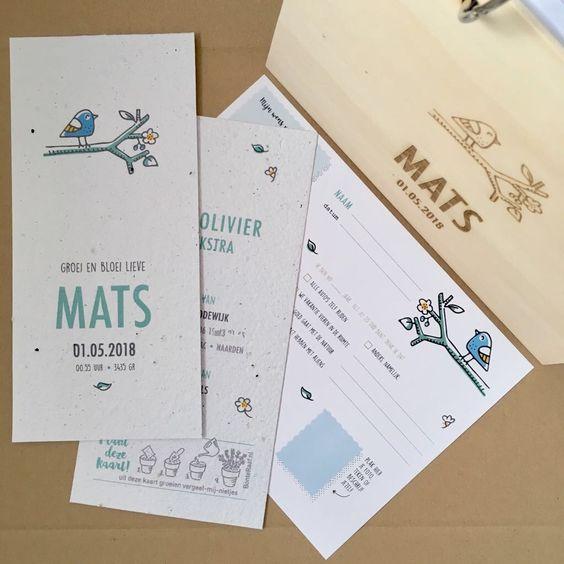 geboortekaartje mats groeipapier