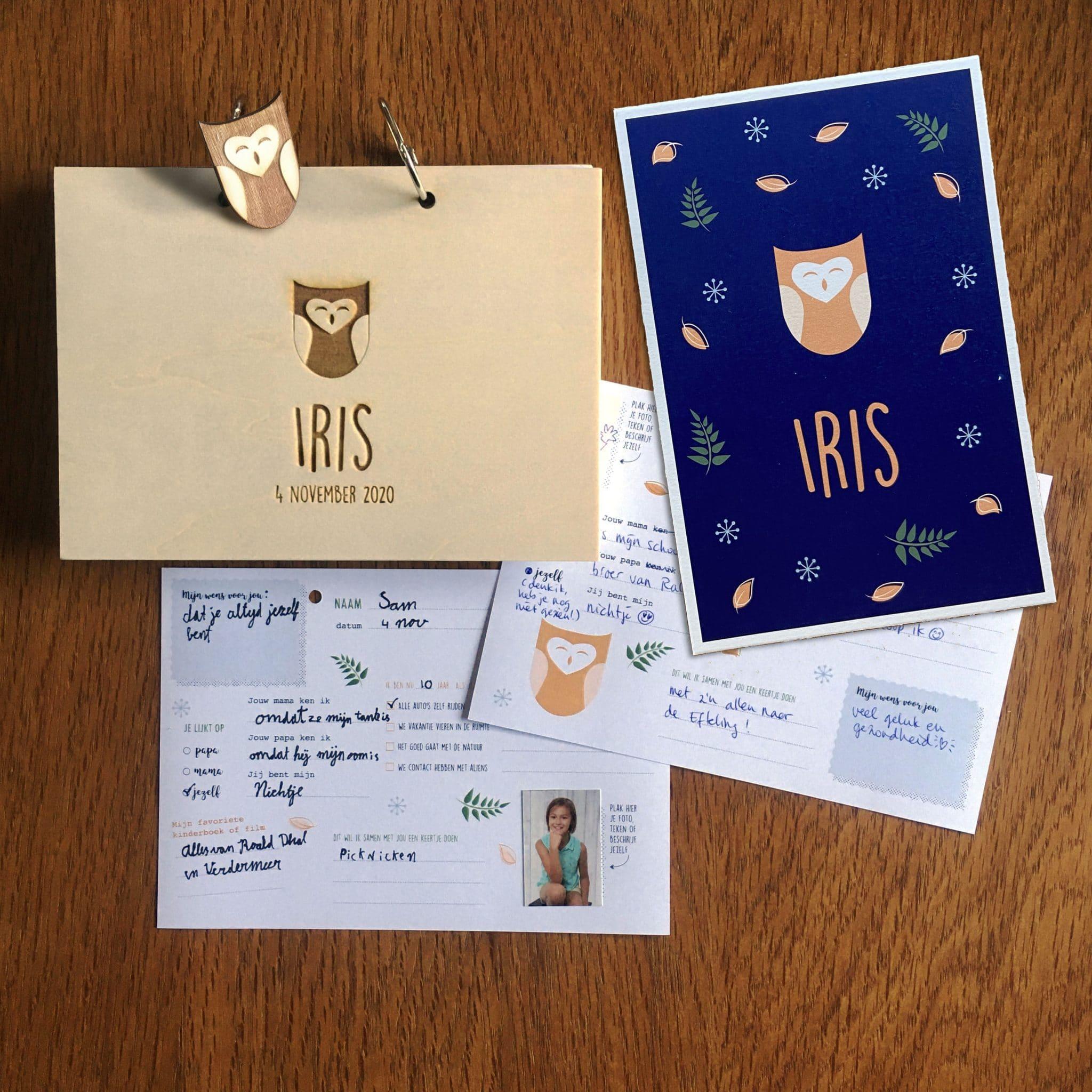 Kraamboek geboortekaart Iris