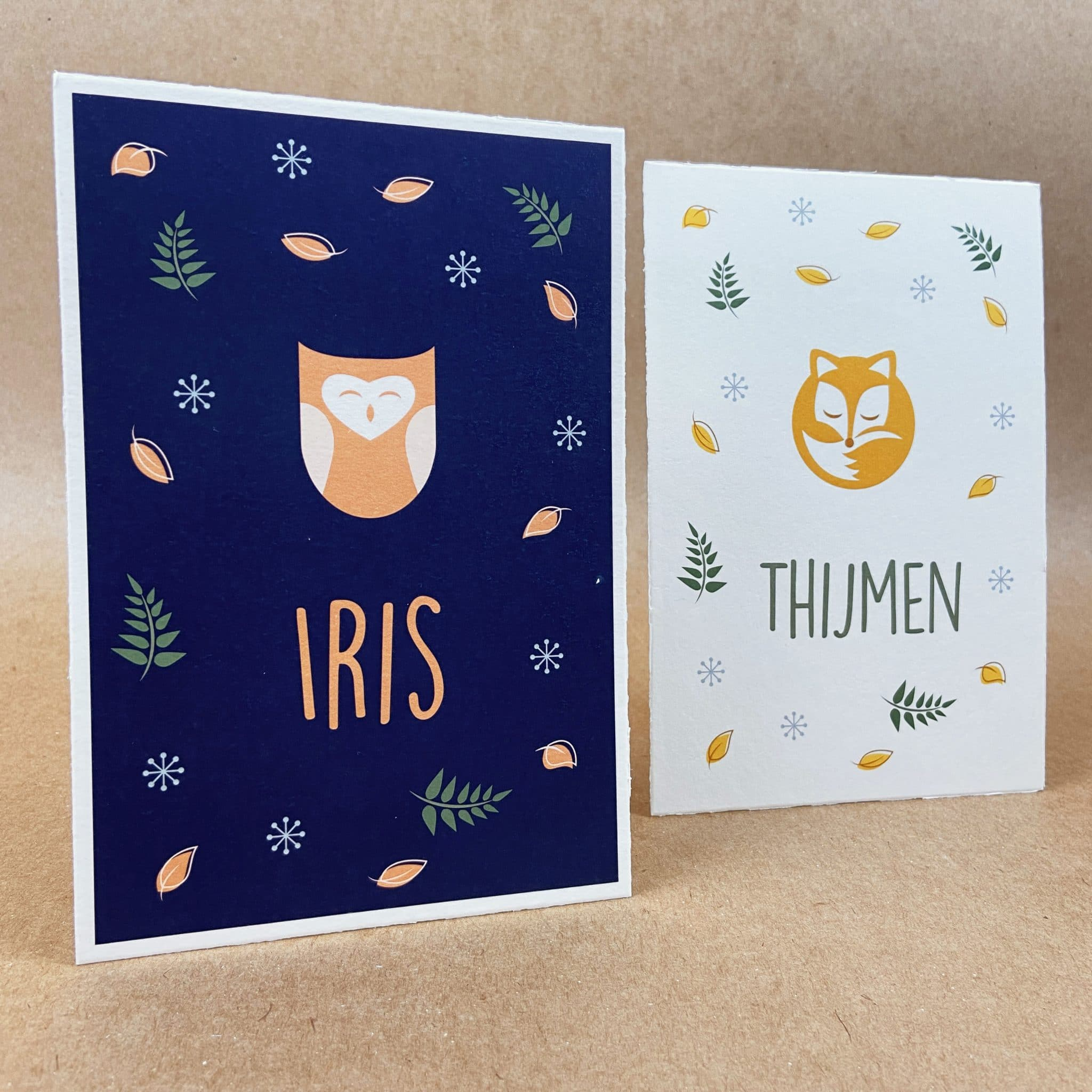 Geboortekaarten Iris Thijmen voor