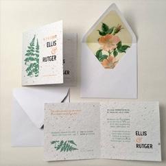Rutger Ellis trouwkaart groeipapier