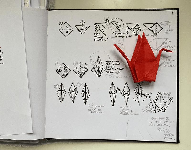nieuwjaarskaart vouwinstructie