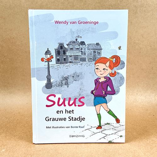 kinderboekillustratie Suus en het Grauwe Stadje Kaft