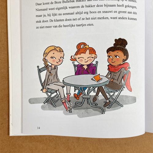 kinderboekillustratie Suus en het Grauwe Stadje Vriendinnen